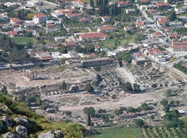 Corinth_excavations_from_Acrocorinth