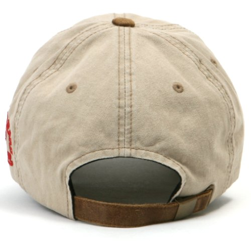 f6cc70e5c5c ililily Distressed Vintage Pre-curved Cotton embroidered logo Baseball Cap  with Adjustable Strap Snapback Trucker Hat – 507-6